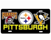 Pittsburgh Sport Teams Novelty Front License Plate Decorative Car Tag Custom License Plates, Personalized License Plates, Decorative License Plates, Front License Plates, Car Tags, airbrush
