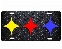 Pittsburgh Steelers Custom License Plates, Personalized License Plates, Decorative License Plates, Front License Plates, Car Tags, airbrush