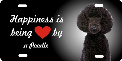 Poodle personalized novelty license plate Custom License Plates, Personalized License Plates, Decorative License Plates, Front License Plates, Car Tags, airbrush