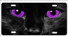 cat eyes Purple personalized novelty license plate