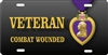Purple Heart VETERAN Combat Wounded custom car  Custom License Plates, Personalized License Plates, Decorative License Plates, Front License Plates, Car Tags, airbrush