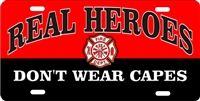 REAL HEROES fire dept car tag Custom License Plates, Personalized License Plates, Decorative License Plates, Front License Plates, Car Tags, airbrush