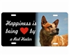 red heeler dog license plate