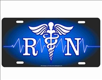 registered nurse logo custom car tag Custom License Plates, Personalized License Plates, Decorative License Plates, Front License Plates, Car Tags, airbrush