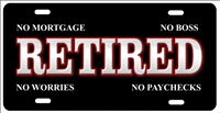 Retired personalized novelty front license plate Decorative Car Tag