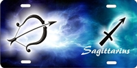 Sagittarius Custom License Plates, Personalized License Plates, Decorative License Plates, Front License Plates, Car Tags, airbrush