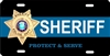 Sheriff custom car tag Custom License Plates, Personalized License Plates, Decorative License Plates, Front License Plates, Car Tags, airbrush