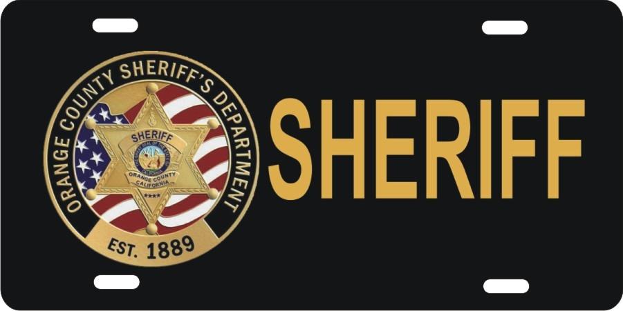 personalized novelty license plate Orange County Sheriff Custom ...