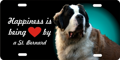St. bernard dog personalized novelty license plate Custom License Plates, Personalized License Plates, Decorative License Plates, Front License Plates, Car Tags, airbrush