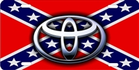 Toyota on rebel flag license plate Custom License Plates, Personalized License Plates, Decorative License Plates, Front License Plates, Car Tags, airbrush