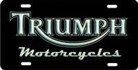Triumph Motorcycles custom car tag Custom License Plates, Personalized License Plates, Decorative License Plates, Front License Plates, Car Tags, airbrush