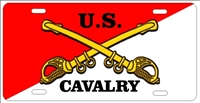 US Cavalry Custom License Plates, Personalized License Plates, Decorative License Plates, Front License Plates, Car Tags, airbrush