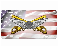 US cavalry Airman wings Custom License Plates, Personalized License Plates, Decorative License Plates, Front License Plates, Car Tags, airbrush