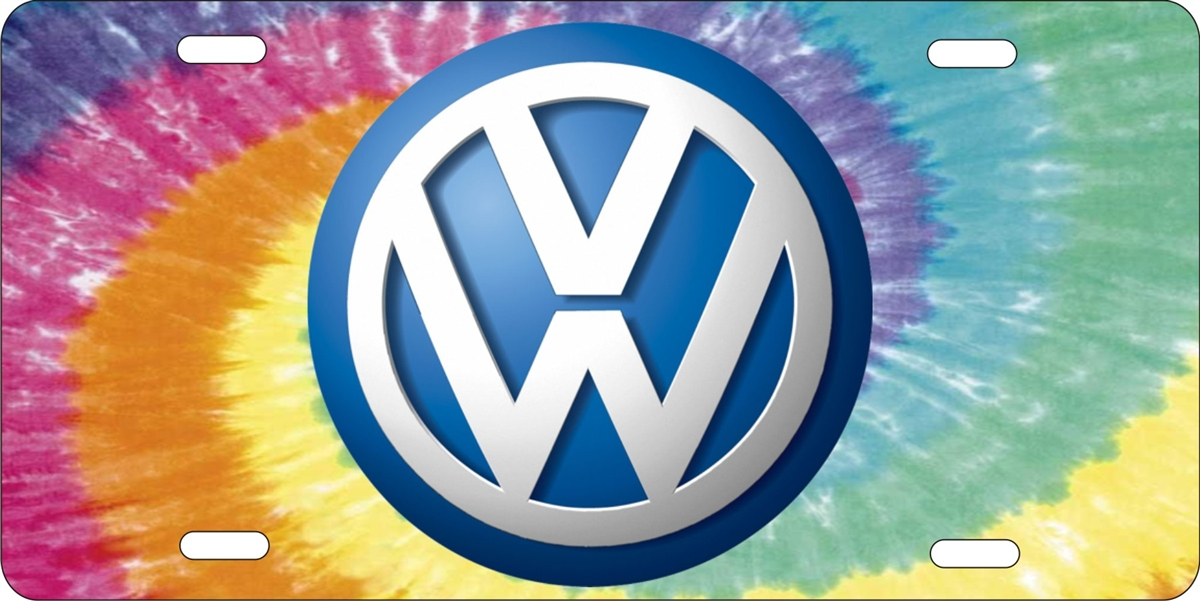 personalized novelty license plate volkswagen on tiedye background Custom License Plates ...