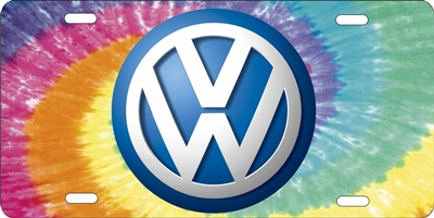 volkswagen on tiedye background custom car tag Custom License Plates, Personalized License Plates, Decorative License Plates, Front License Plates, Car Tags, airbrush