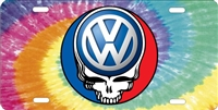 volkswagen steal your face on tiedye background custom car tag Custom License Plates, Personalized License Plates, Decorative License Plates, Front License Plates, Car Tags, airbrush