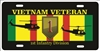 Vietnam veteran 1st Infantry Division personalized novelty Front license plate Decorative Aluminum Sign car tag