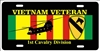 Vietnam veteran 1st Calvary Division personalized novelty Front license plate Decorative Aluminum Sign car tag Custom License Plates, Personalized License Plates, Decorative License Plates, Front License Plates, Car Tags, airbrush
