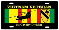 Vietnam veteran 1st cavalry Division personalized novelty Front license plate Decorative Aluminum Sign car tag Custom License Plates, Personalized License Plates, Decorative License Plates, Front License Plates, Car Tags, airbrush