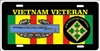 Vietnam veteran 4th INFANTRY DIVISION license plate Custom License Plates, Personalized License Plates, Decorative License Plates, Front License Plates, Car Tags, airbrush