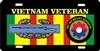 Vietnam veteran 9th INFANTRY DIVISION license plate Custom License Plates, Personalized License Plates, Decorative License Plates, Front License Plates, Car Tags, airbrush