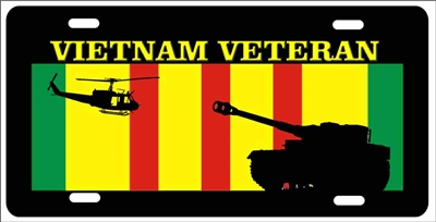 Vietnam veteran Tank personalized novelty front license plate Decorative vanity military car tag