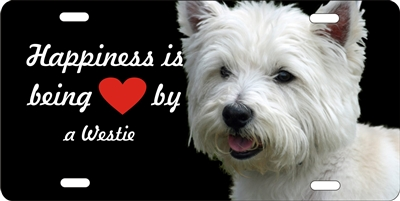 Westie novelty license plate Custom License Plates, Personalized License Plates, Decorative License Plates, Front License Plates, Car Tags, airbrush dogs