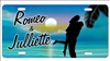 custom car tag personalized airbrush beach scene license plate