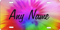 custom car tag personalized license plate Tie dye