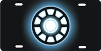Iron Man Arc Reactor personalized novelty license plate