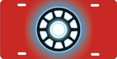 Iron Man Arc Reactor personalized novelty red license plate