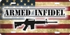 Armed Infidel personalized license plate