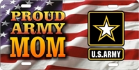 proud Army Mom American flag custom Military car tags Custom License Plates, Personalized License Plates, Decorative License Plates, Front License Plates, Car Tags, airbrush