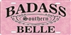 Badass Southern Belle personalized license plate