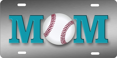 Baseball Mom personalized novelty front license plate