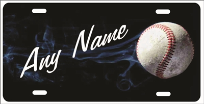 Baseball Softball Personalized Novelty Front License Plate Decorative Vanity Car Tag