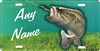 Bass fishing custom license plate