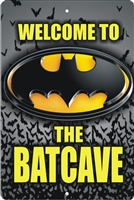 Batcave sign personalized bat cave sign custom made personalized aluminum sign Novelty Custom signs, personalized signs, Decorative signs, Aluminum signs, airbrush