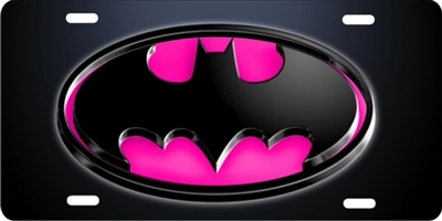 novelty license plate Batman Batmobile pink