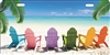 Beach Chairs beach scene car tag personalized novelty front license plate