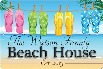 Beach House personalized aluminum sign