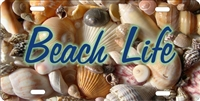 beach life custom car tag