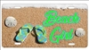 Beach girl personalized novelty front license plate decorative vanity car tag