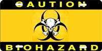 bio hazard custom car tag