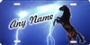 Black Horse Mustang Lightning Personalized Novelty Front License Plate Decorative Car Tag