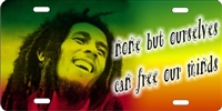 Bob Marley custom car tag