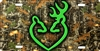 Browning buck and doe lovers on camo personalized novelty front license plate decorative vanity aluminum car tag