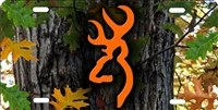 browning mossy oak camo custom car tag