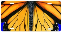 butterfly wings personalized novelty front license plate Decorative vanity aluminum car tag