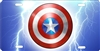Captain America shield personalized novelty front license plate decorative vanity car tag